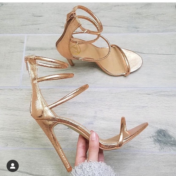 2115573fe9 Shoes | Missguided Rose Gold Heels | Poshmark